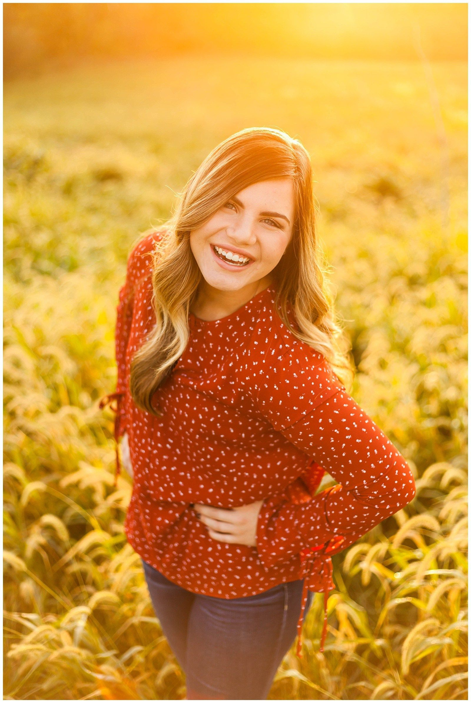 Gorgeous Fall Senior Pictures  Southern IL  St Louis Senior Photographer  Senior sunrise ideas