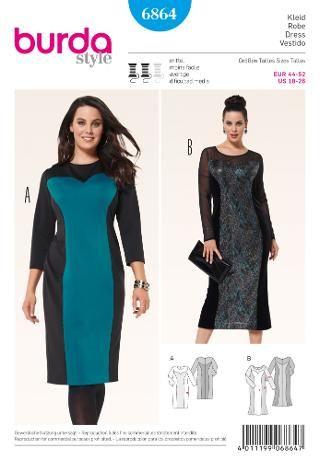 Vásárlás Burda Női Molett ruha szabásmintát 510b4f6455