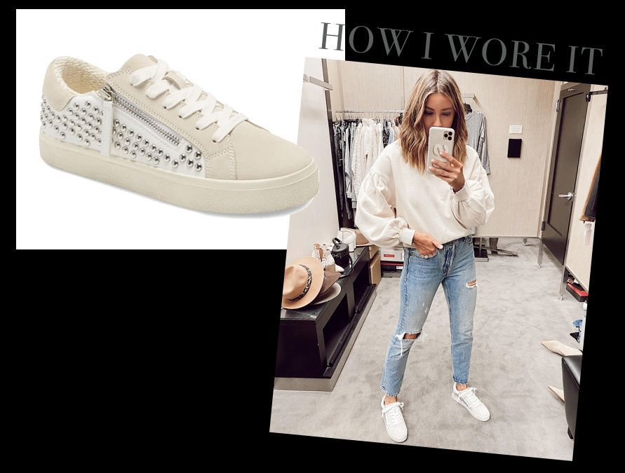 Studded sneakers, Jeans and sneakers