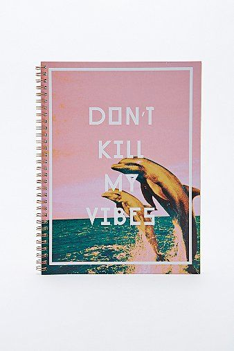 Don't Kill My Vibes Notebook - Urban Outfitters