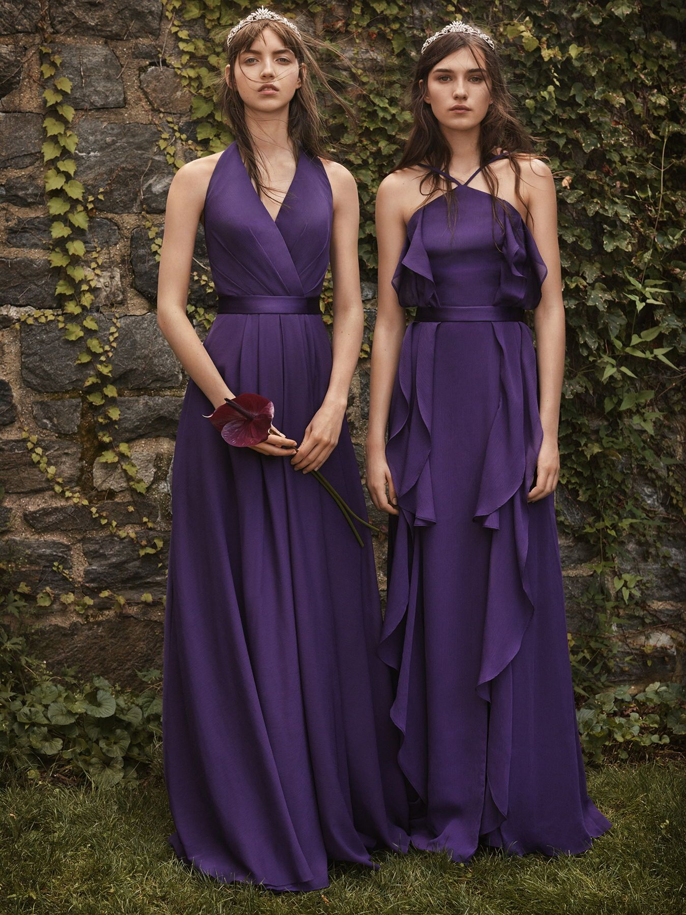 Purple bridesmaid dresses from the WHITE by Vera Wang bridesmaid ...