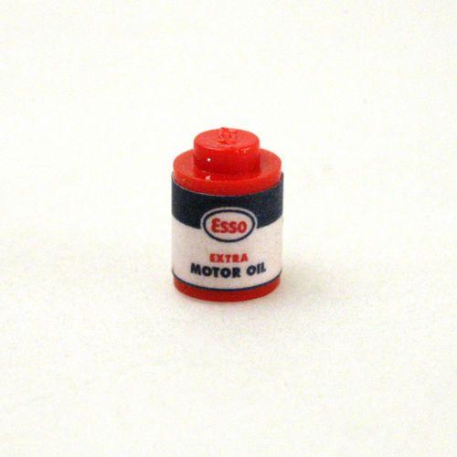 1950s-Vintage-Lego-Esso-Motor-Oil-Blechdose-REPLICA-Esso-Standard-Oil
