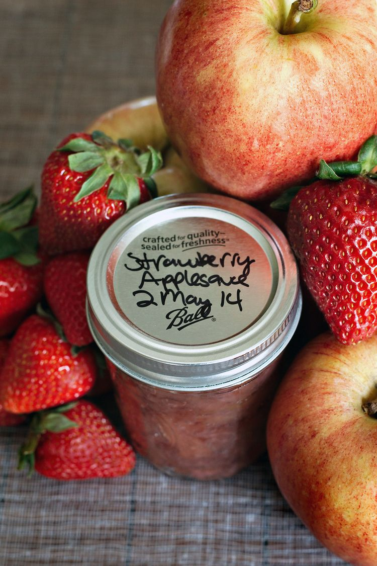Strawberry Applesauce + Canning Instructions Canning
