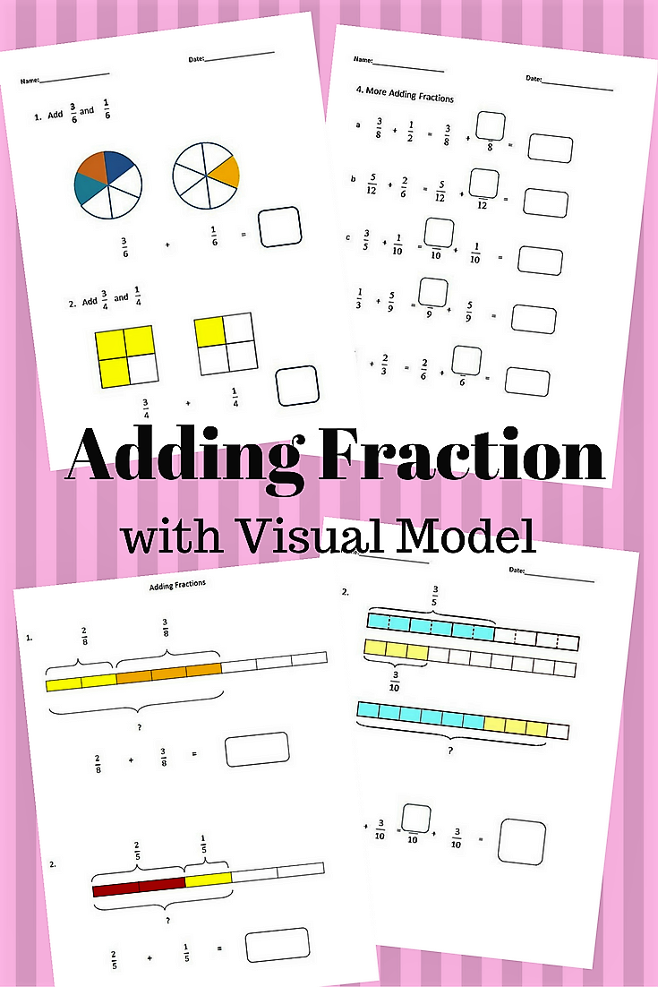 Fractions Worksheets, 4th Grade, 5th Grade - Adding Fractions ...