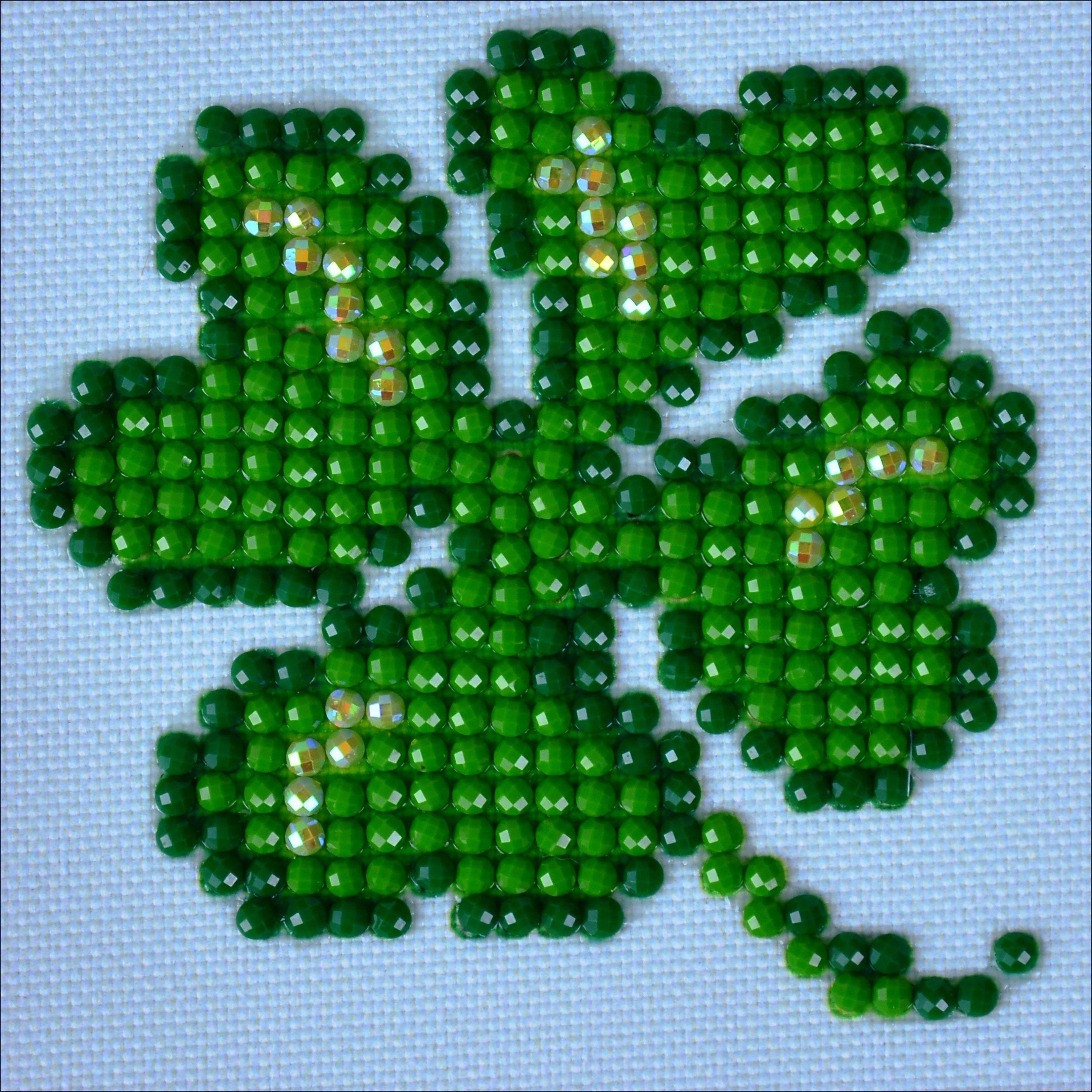 Diamond dotz diamond embroidery facet art kit lucky leaves