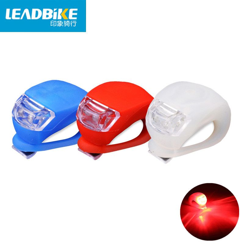 Leadbike New Waterproof Bicycle Front Head Light Flashlight 2 LED 3 Modes Bike Taillight Safety Warning Lamp Bike Accessories