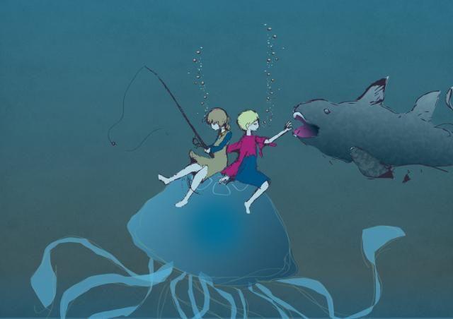 クラゲ釣り