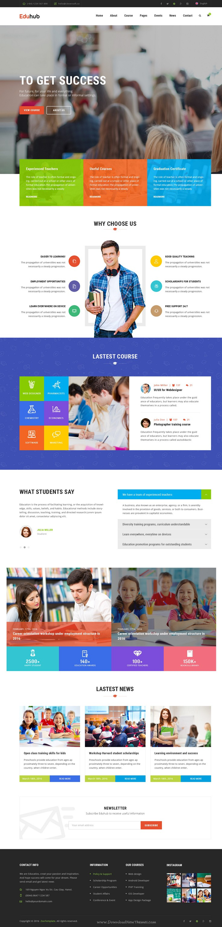 Eduhub is beautiful PSD template for your #Education Institute, Events, #Courses and even Learning Management System, Business and Shopping #website. Download Now!