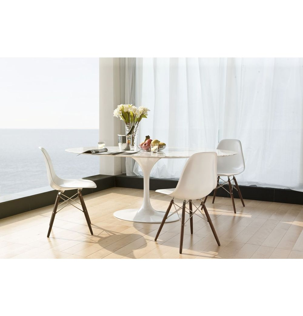 Replica eero saarinen tulip dining table oval marble 1000 for Tulip dining table