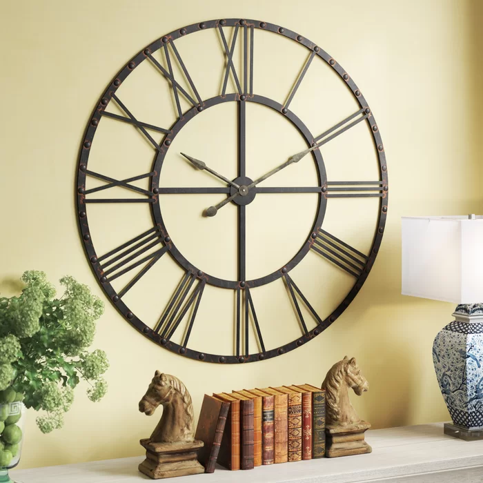 Darby Home Co Oversized Upton 45 75 Wall Clock Reviews Wayfair Oversized Wall Clock Wall Clock Clock Wall Decor