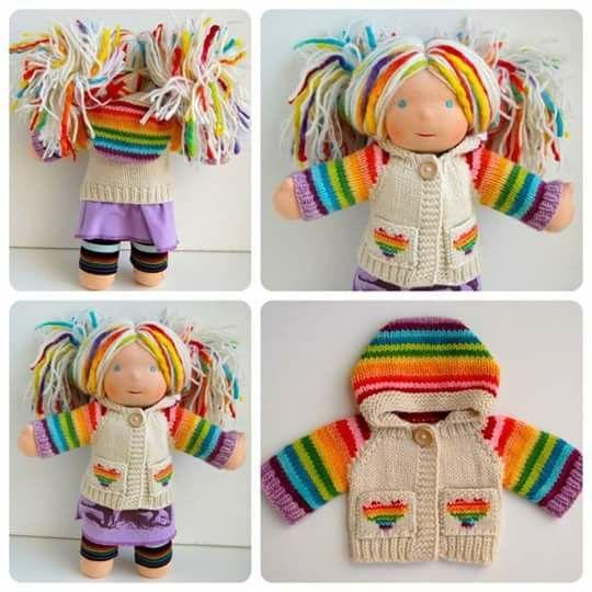 Arcoiris. | bebes | Pinterest | Más ideas sobre Muñecas de trapo ...