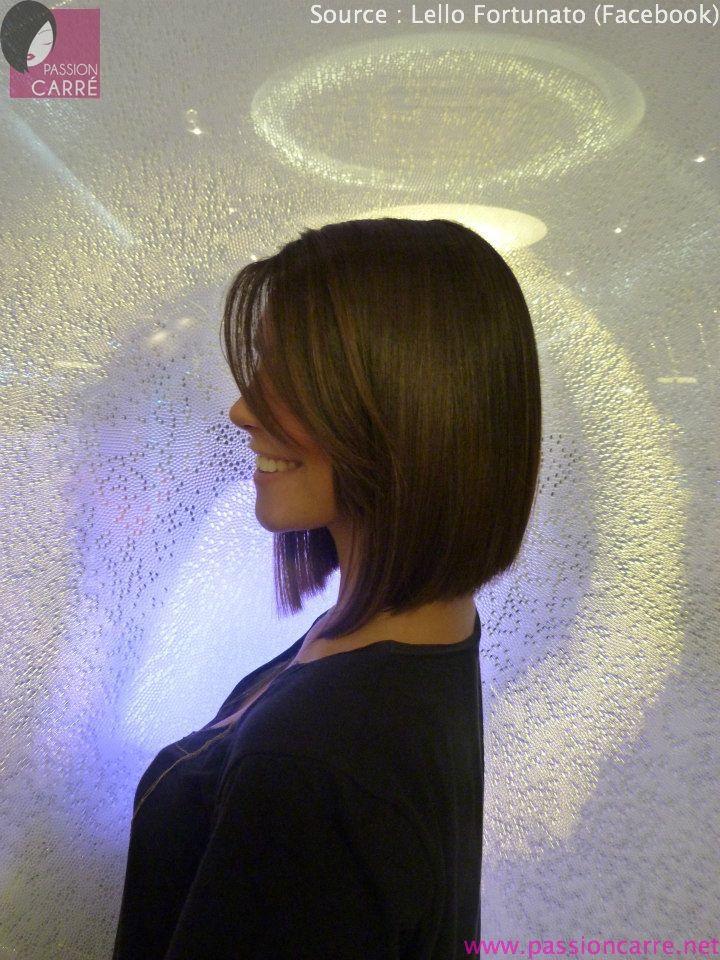 Magnifique carré long plongeant - Passion Carré   Coupes de cheveux carré long, Coupe cheveux mi ...