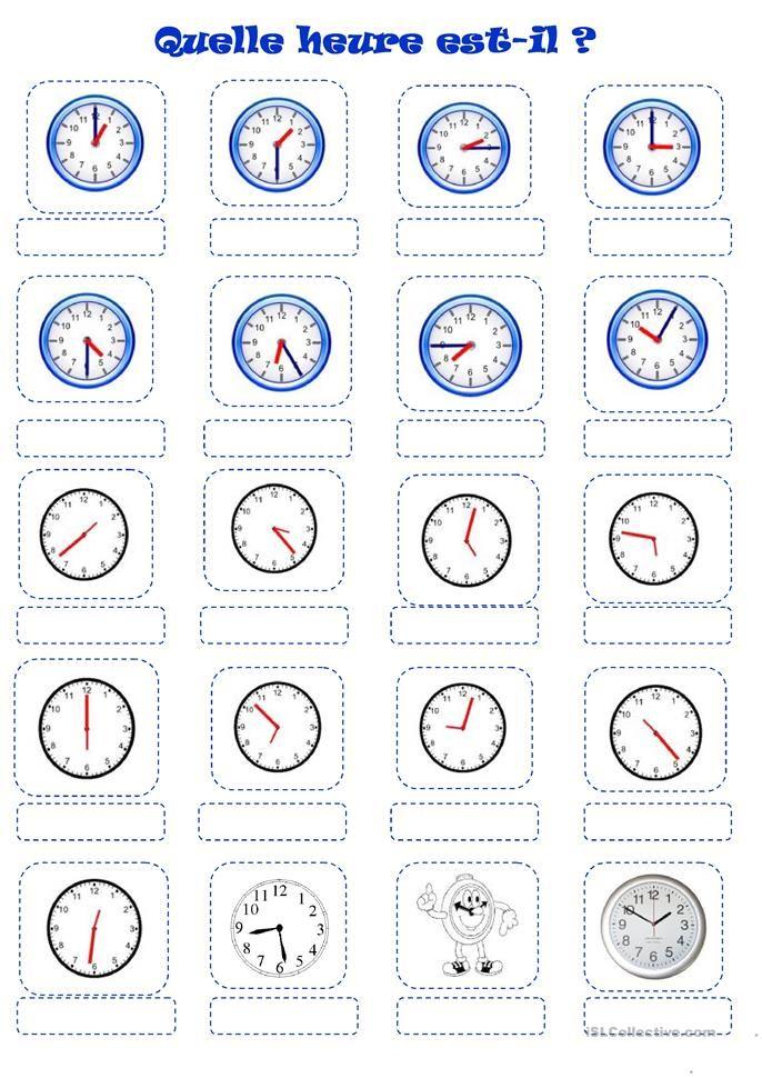 Quelle heure est-il? | ULIS | Pinterest | Französisch