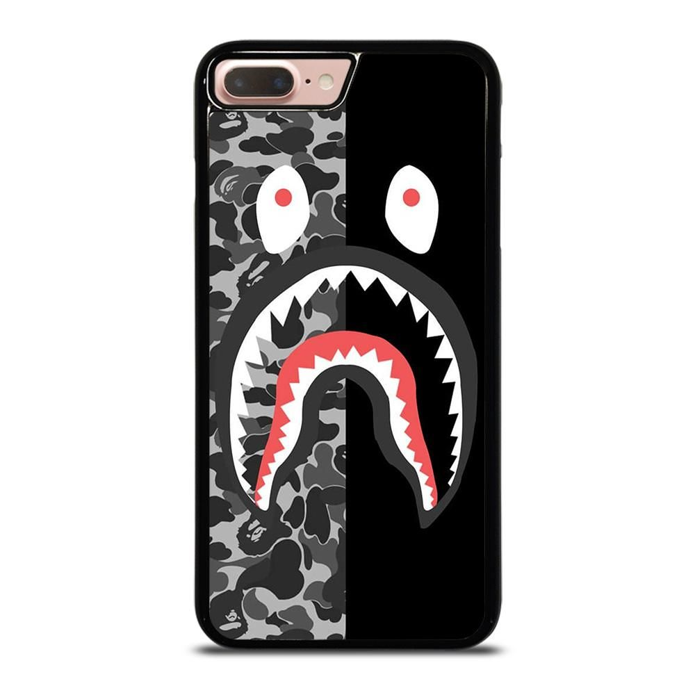 Bape camo shark iphone 7 8 plus case in 2020 iphone 11