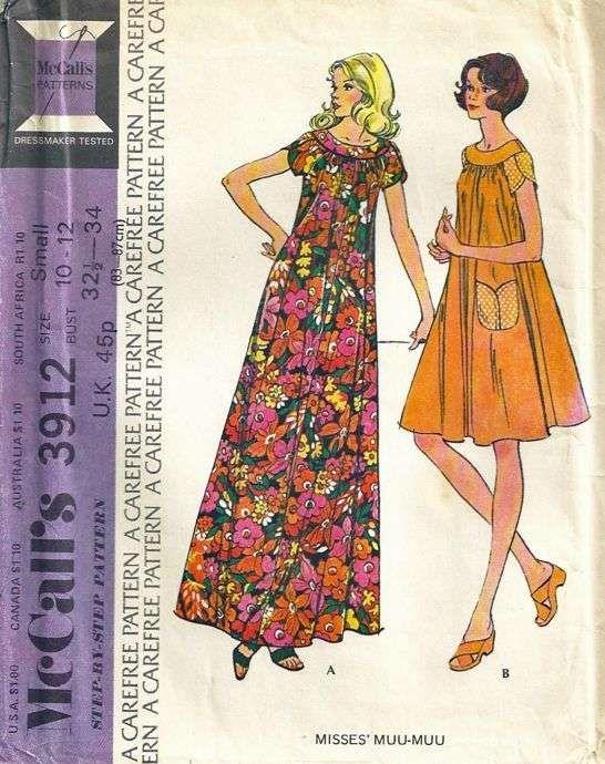 vintage 1970s Mu-mus
