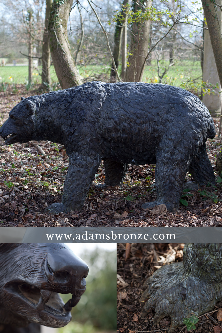 Amazing Bear Statues Made In Bronze. Rustproof, Life Size, Quality Garden  Ornaments
