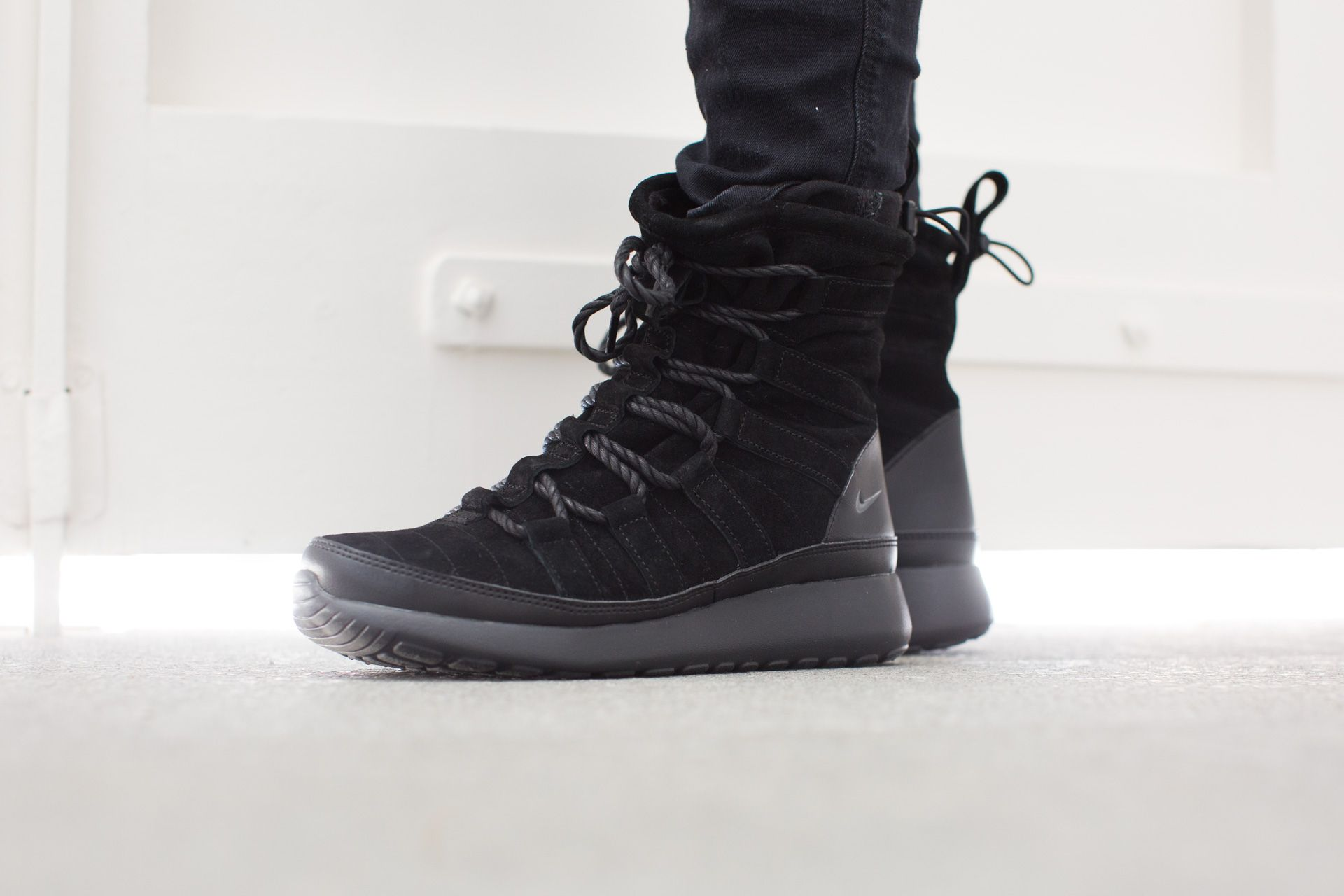 e8c7f8df555e Sneaker Boots · NIKE WMNS ROSHE ONE HI SUEDE BLACK ANTHRACITE available at  www.tint-footwear