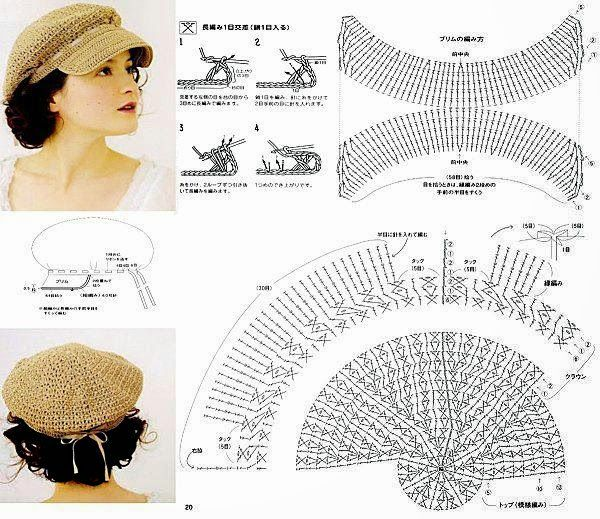 405 Gorro a Crochet o Ganchillo | crochet | Pinterest | De color ...