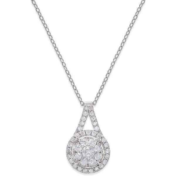 Angara Composite Round Diamond Disc Pendant Necklace 6d3374gEt