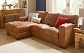 Caesar Left Hand Facing 3 Seater Chaise End Sofa Outback : chaise sofa leather - Sectionals, Sofas & Couches