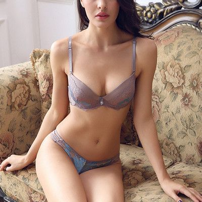 53a399b6c5d DeRuiLady NEW Sexy Romantic Embroidered Lace VS Bra Sets Sexy Women  Underwear Sets Push Up BC Thongs Bra Set- Bra Panty Sets