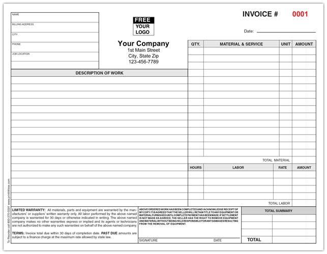 Hvac Remodeling Invoice Forms Hvac Remodel Hvac Business
