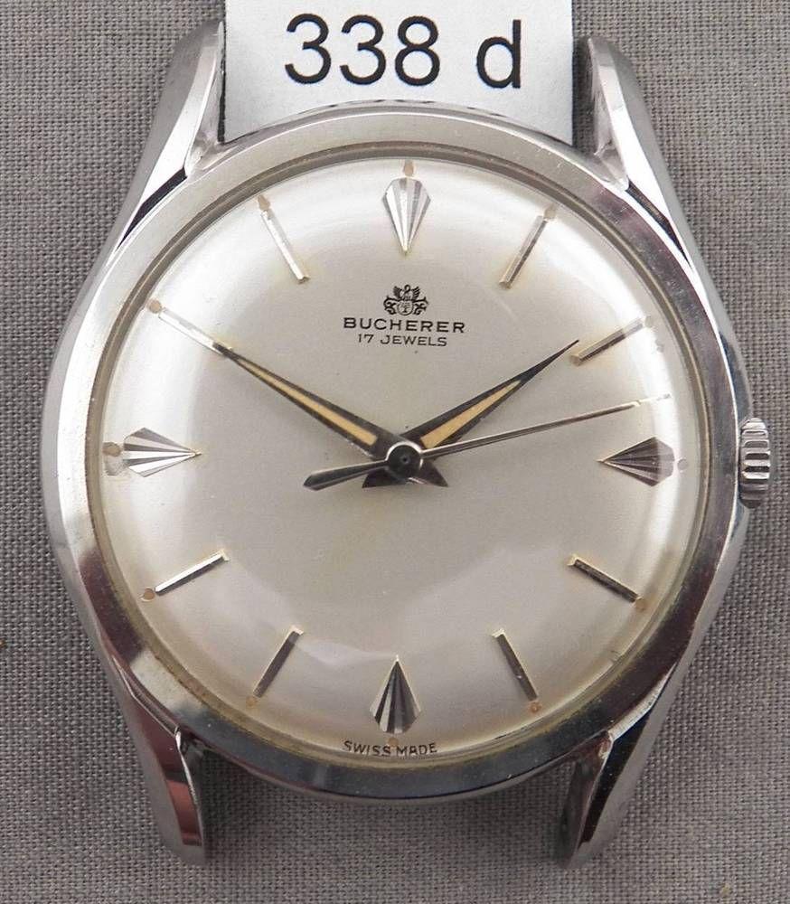 Vintage Bucherer Stainless Steel Men S Wrist Watch Very Stylish 60s Case Wristwatch Men Wrist Watch Watches