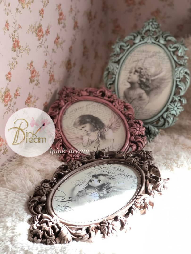 إطار إطارات لوحة لوحات برواز تعتيق ديكوباج Frame Decoration Decoupage Hand Made Antique Decorative Plates Decor Home Decor