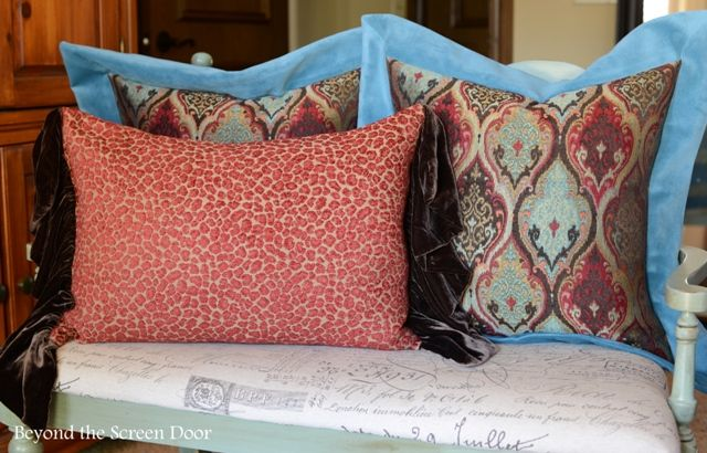 Moroccan Style Fabric; 3 Window Treatments and Pillows | Beyond the Screen Door : door pillow - pezcame.com
