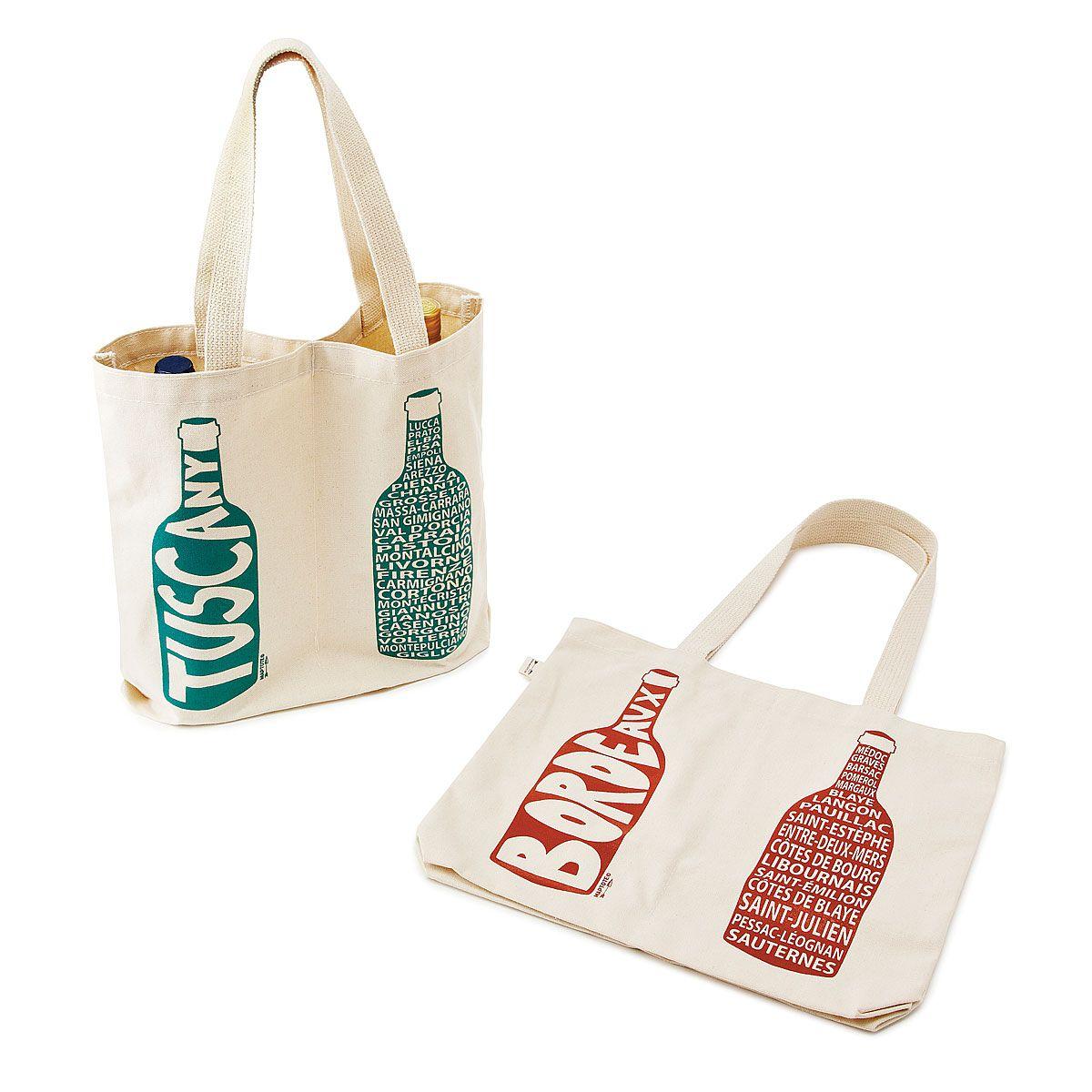 Double Wine Tote Regions Canvas Wine Bottle Bag Wine Tote Bag Wine Tote Bottle Bag