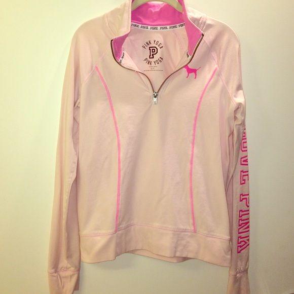 PINK pullover Pink, pullover quarter zip, size small PINK Victoria's Secret Tops Sweatshirts & Hoodies