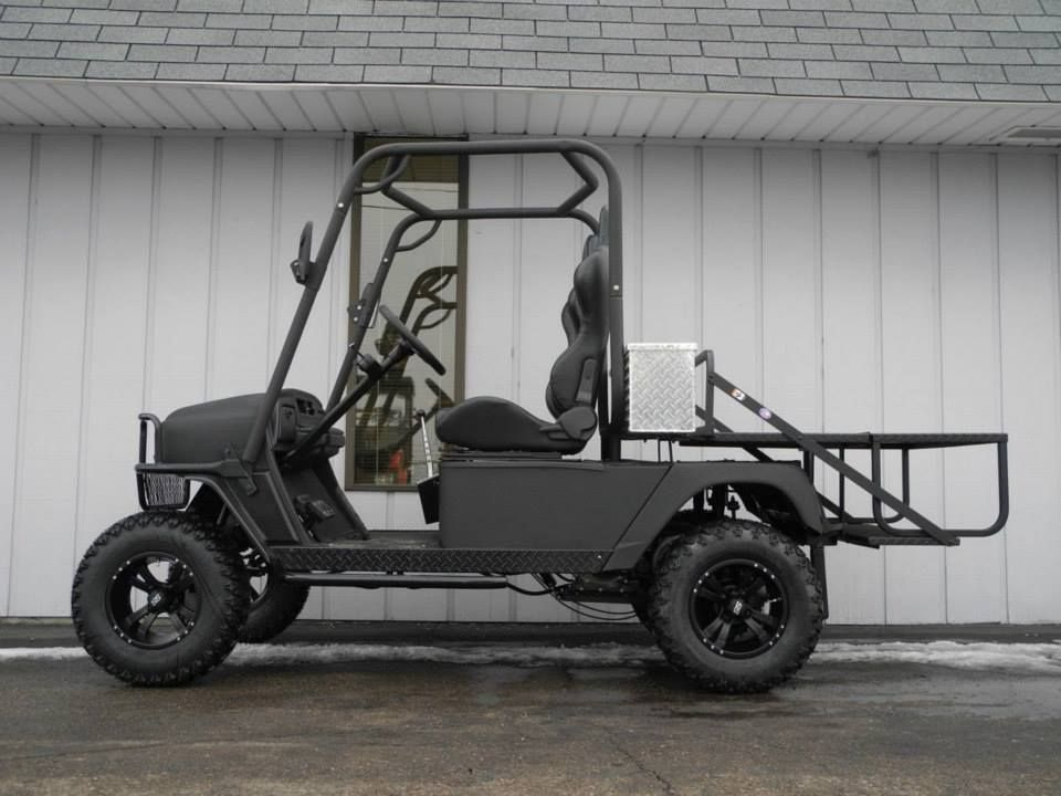 Meet the bad dog this golf car is built on an e z go for Golf cart plans