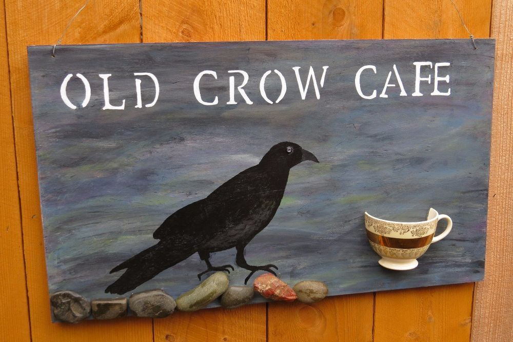 OLD CROW CAFE SIGN
