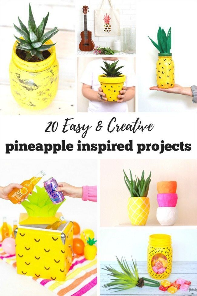 20 Easy & Creative Pineapple Inspired Projects