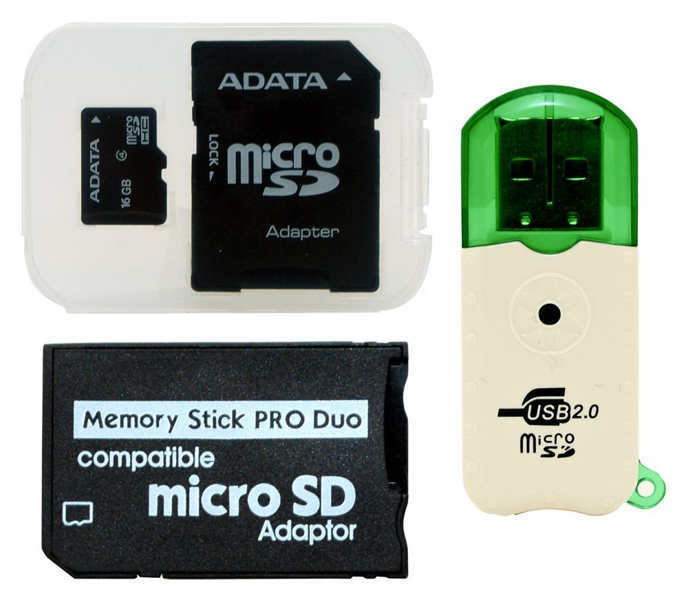 16GB Memory Stick MS Pro Duo Card 16 GB FOR Sony PSP Cybershot Camera ADATA