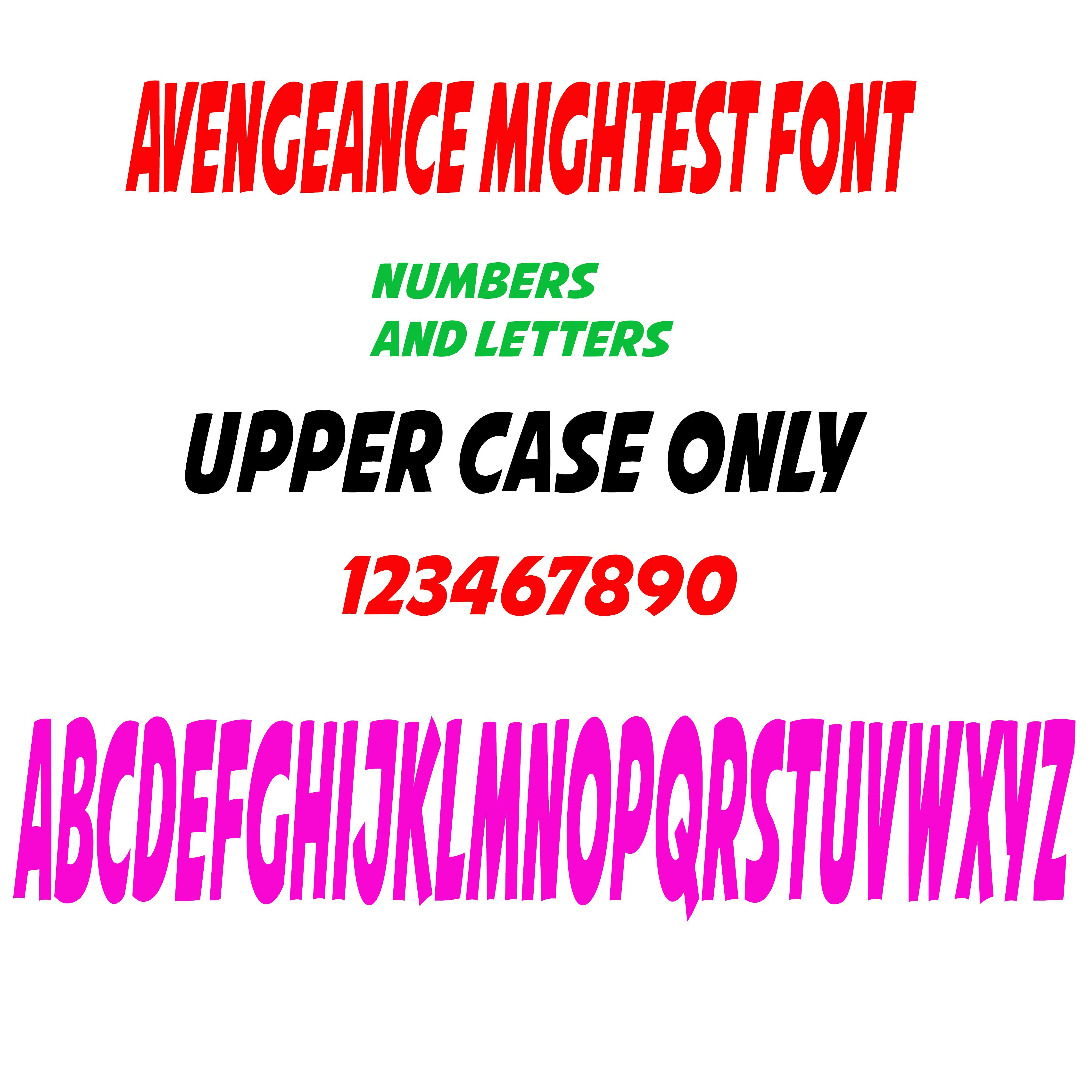 Avengeance font vinyl lettering outdoor sticker price per letter ...