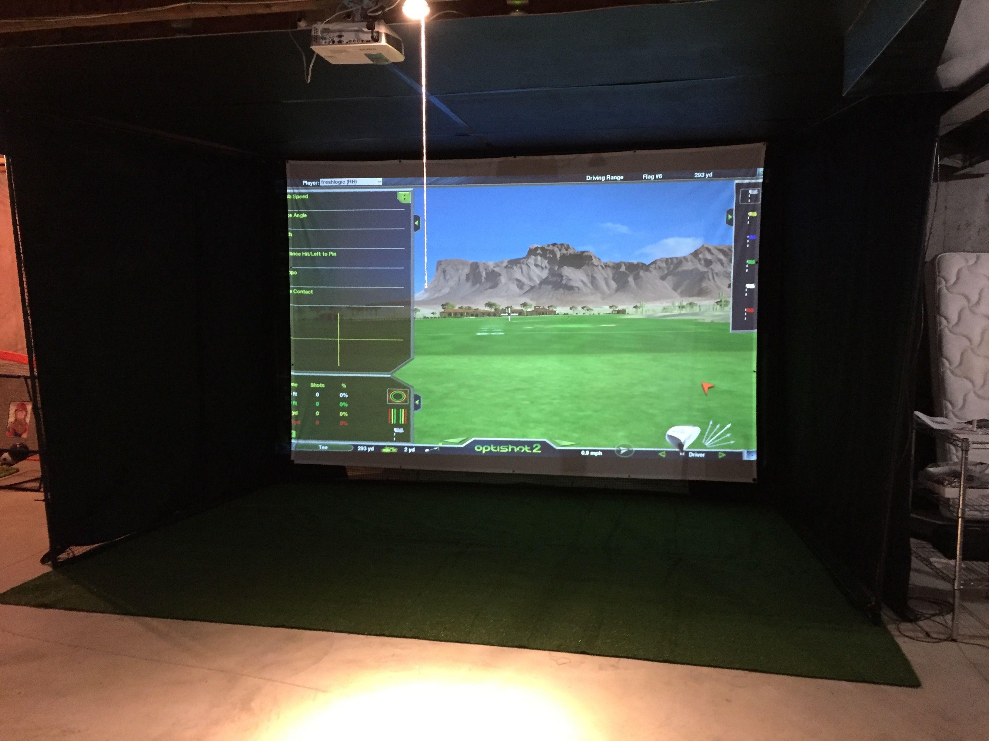 Home golf simulator buildout home golf simulator golf