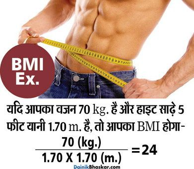 कितना होना चाहिए आपका वजन, जानिए इसे कंट्रोल करने के TIPS