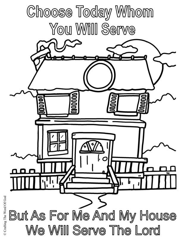 We Will Serve The Lord Coloring Page Bible Verse Coloring