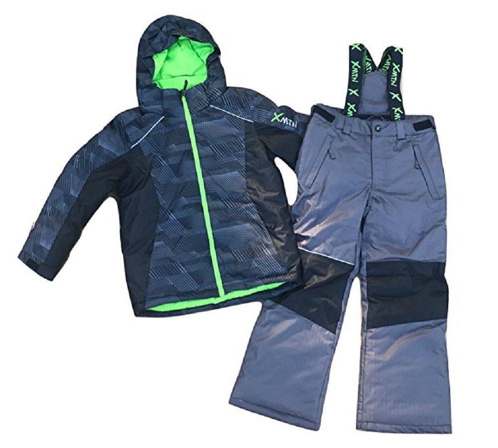 2aff77684 Boys XMTN Winter Snow Suit (Volt Green   Carbon) (X-Small   5-6 ...