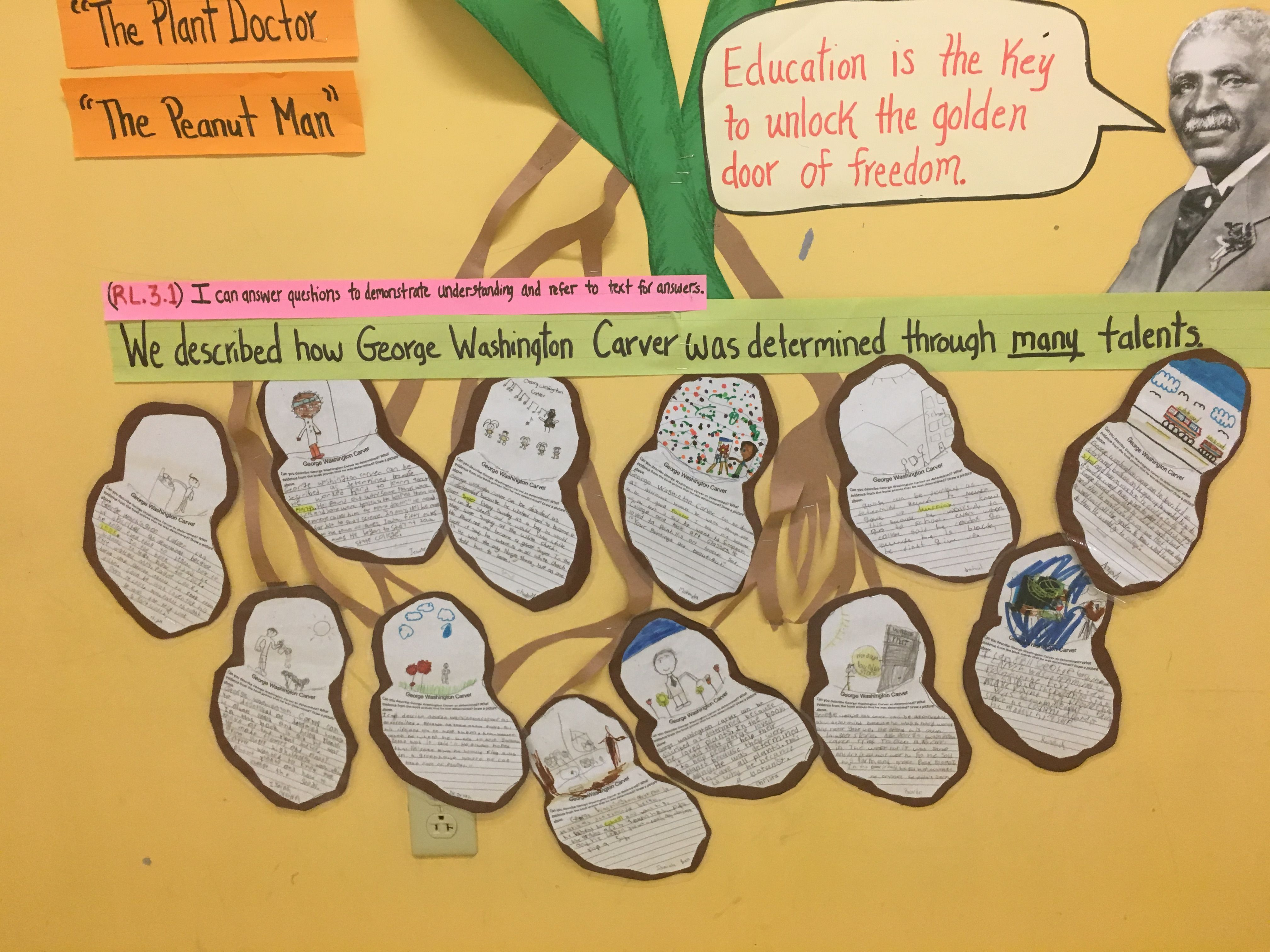 George Washington Carver Literacy Activity