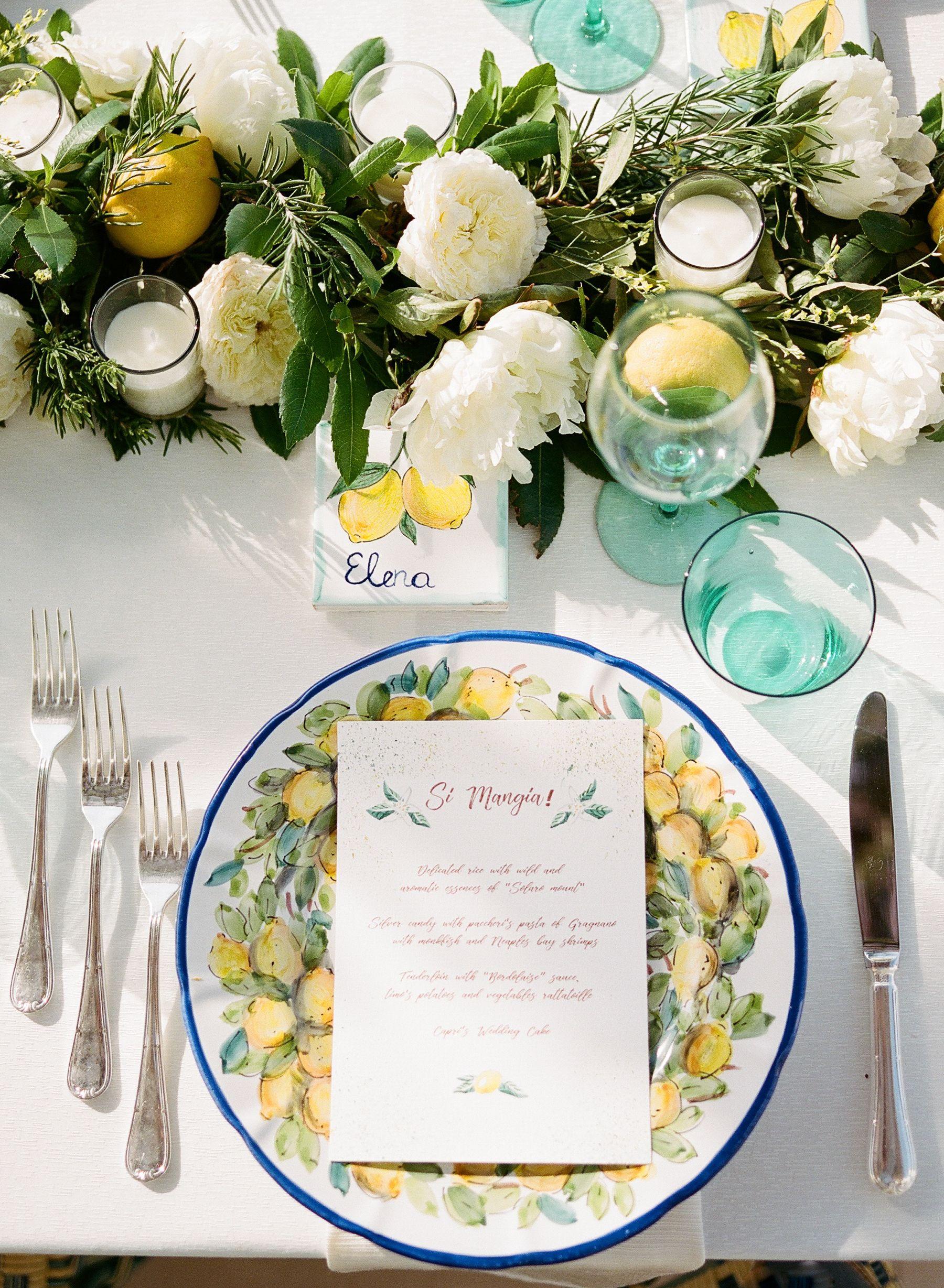 Lemon Themed Wedding in Capri, Italy | Photos by Capri Wedding ...