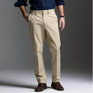 khakis and dress shoes