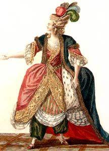 Un figurino francese alla turca del 1779
