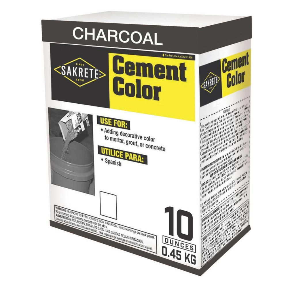 SAKRETE 1 lb. Cement Color Charcoal-65075002 - The Home Depot | Cement color, Cement, Concrete