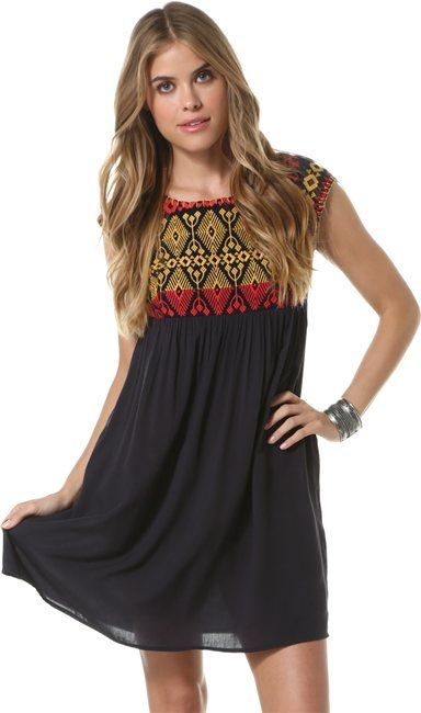 4a0d164e63ae THML PATTERNED TOP BABYDOLL DRESS > Womens > Clothing > Dresses | Swell.com