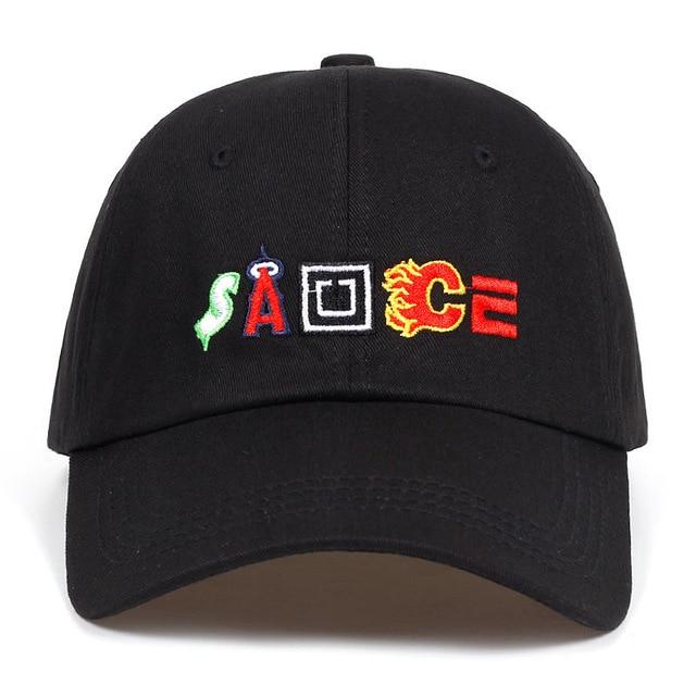Letter Sauce Snapback Cap Cotton Baseball Cap For Men Women Adjustable Hip  Hop Dad Hat Bone Garros Casquette new 2018 c19cbbb411f8
