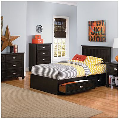 Twin Mates Dark Russet Cherry Headboard Big Bedrooms Bedroom