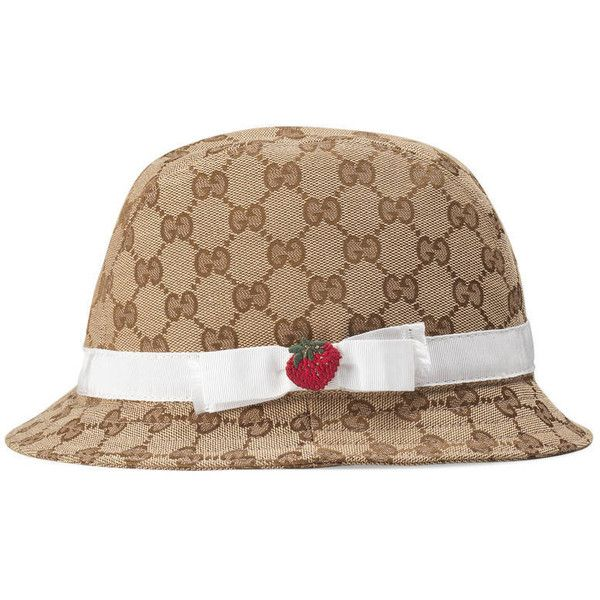 60feca6d5b5 Gucci Children S Original Gg Fedora (€150) ❤ liked on Polyvore featuring  accessories
