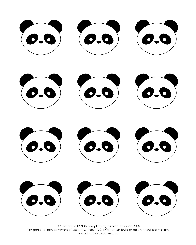 Fmb Panda Template 01 Png 2400 3000 Royal Icing Templates Royal Icing Transfers Chocolate Template